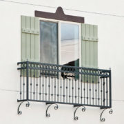 Wrought iron juliet balcony