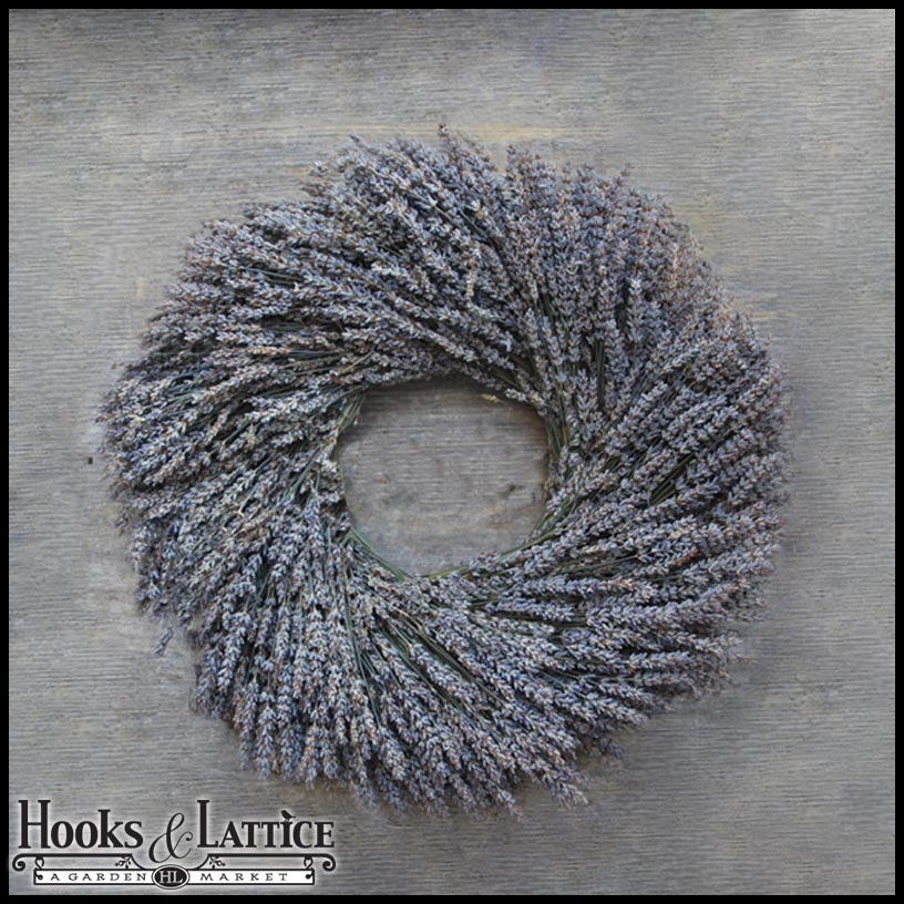 Transport yourself to Provincial France with a dried lavender wreath. Breath deeply and relax into the sweet scent of lavender fields every time your front door opens.