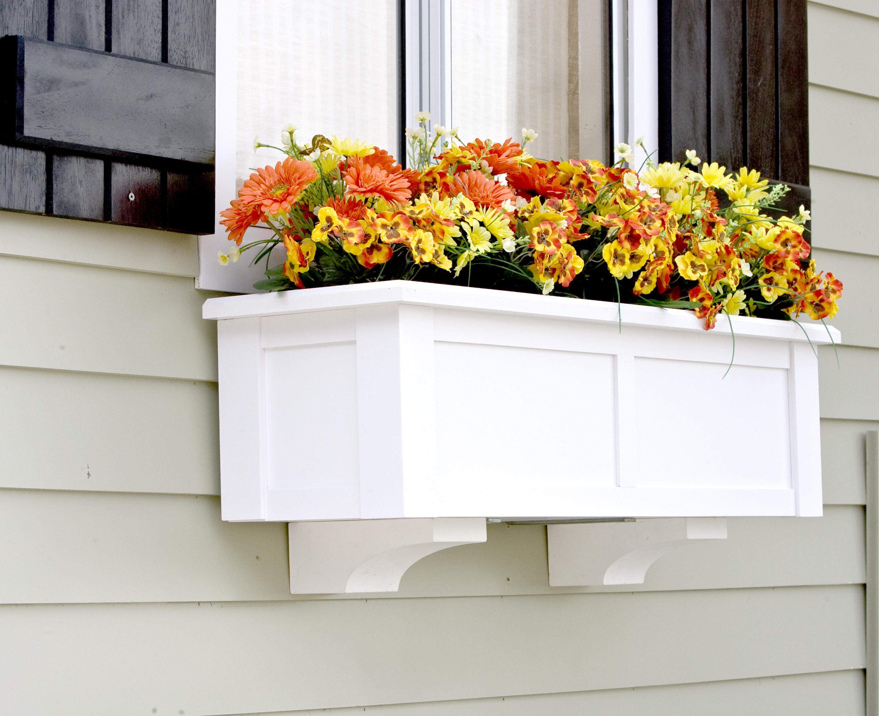 Upgrade Window Boxes with Decorative Corbels
