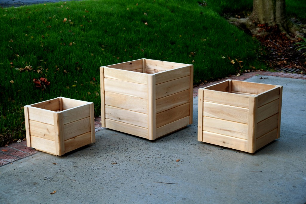 Cedar planters are the easiest to paint, plus it's a fun DIY project that will get the kids in the garden too!