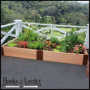 The easiest way to start a garden at home is with raised planter boxes like these.