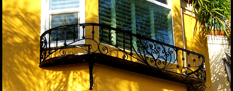 Wrap-Around Iron Faux Balcony