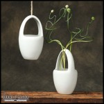 Urban dwellers love these modern hanging planters.