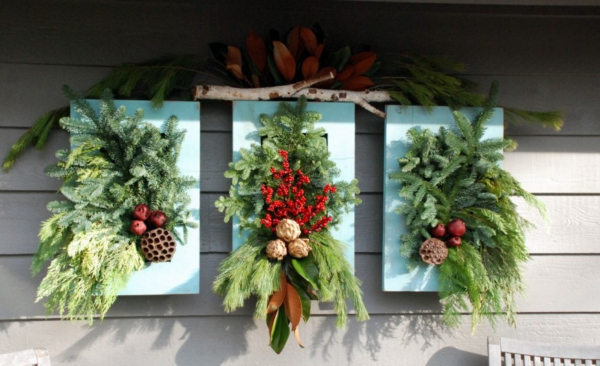 Show Winter who's boss -  Add evergreens and pine cones for a festive display.