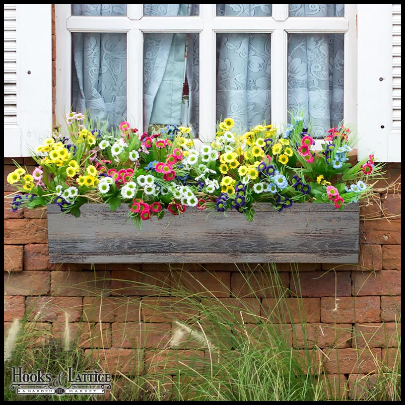 Modern farmhouse window box hooks lattice blog for Modern farmhouse windows