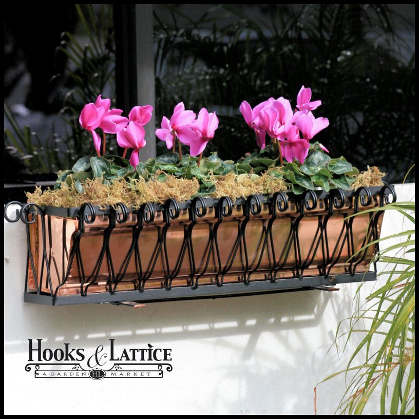 Del Mar Heights Copper Window Boxes look great on contemporary homes and commercial buildings.