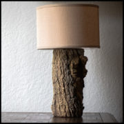 tree trunk table lamp