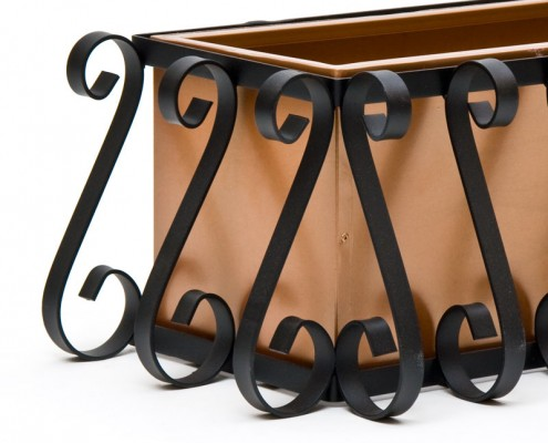European Iron Cage Close Up - Copper Tone Liner