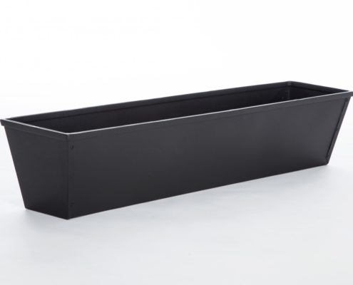 Black Window Box Liner - Galvanized Steel