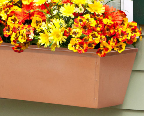 Copper Tone Galvanized Window Box Liner