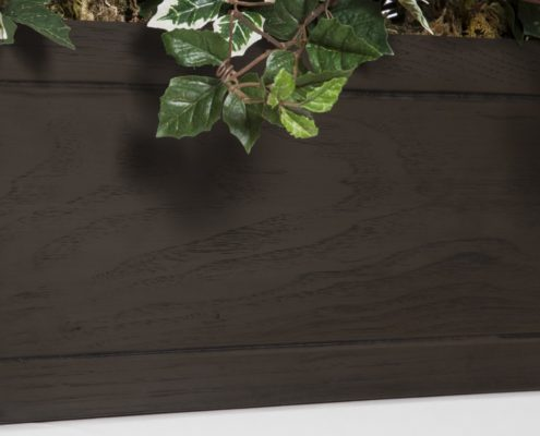 Faux Wood Window Boxes - Reclaimed Mahogany Wood