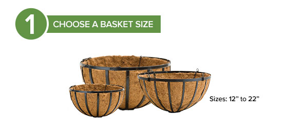 Step 1: Choose Hanging Basket Size