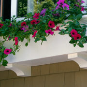 PVC Flower Boxes Create a Crisp Display for Flowers and Plants