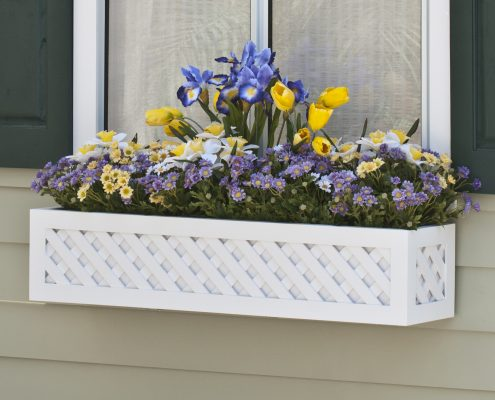 """Lattice Premier Composite Window Box W """"Easy Up"""" Cleat Mounting System"""
