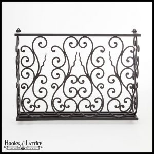 Aubergine Wrought Iron Faux Balcony