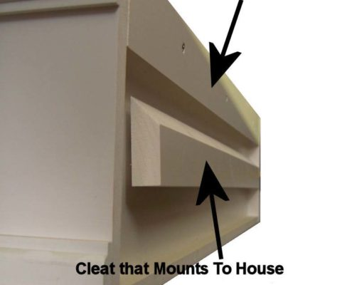 Cleat Mounting System on PVC Composite Window Boxes