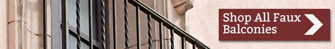 Shop All Wrought Iron Faux Balconies and Juliet Balcony Products