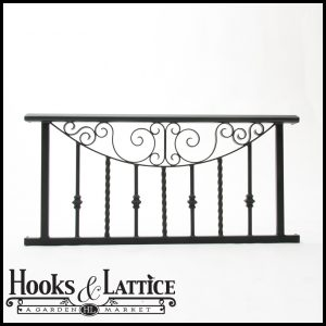 The Umbria Wrought Iron Faux Balcony Railing - Juliet Balcony