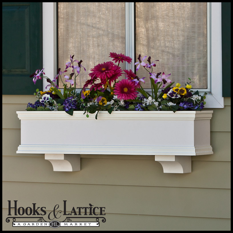 Laguna PVC Flower Boxes - Direct Mount