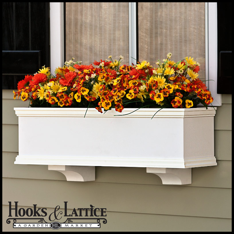 Laguna XL Window Flower Boxes - Cleat Mount