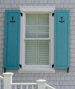 Add character to your shutters with a cut-out design.