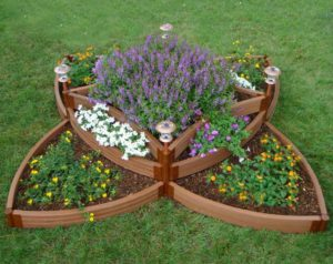 Decorative raised garden bed