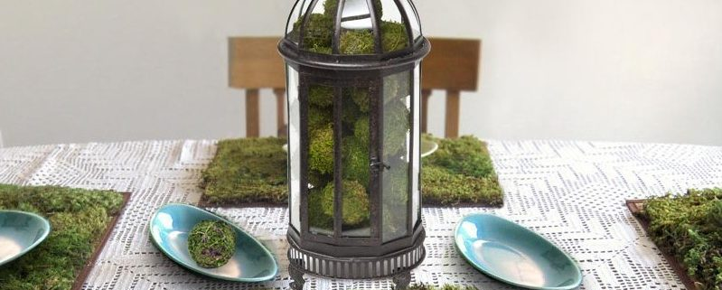 Metal Lantern Centerpiece