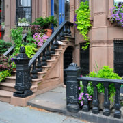 Railing Window Boxes on a Brownstone in New York City