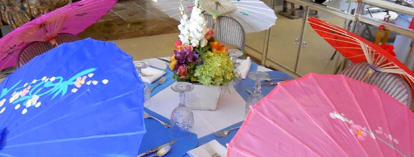 It's easy to incorporate artificial arrangements into any baby shower theme. Think color!