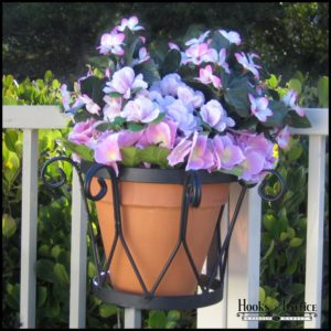 "Del Mar Railing Flowerpot Holder for 8"" Diameter Pots"