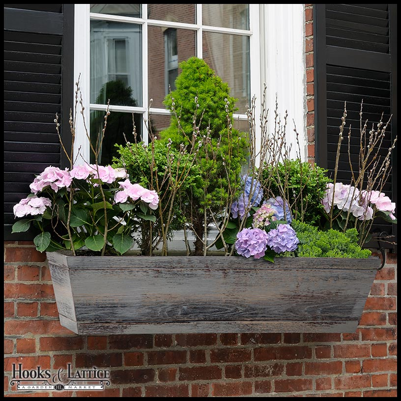 Modern Farmhouse Window Box in Distressed Reclaimed Finish
