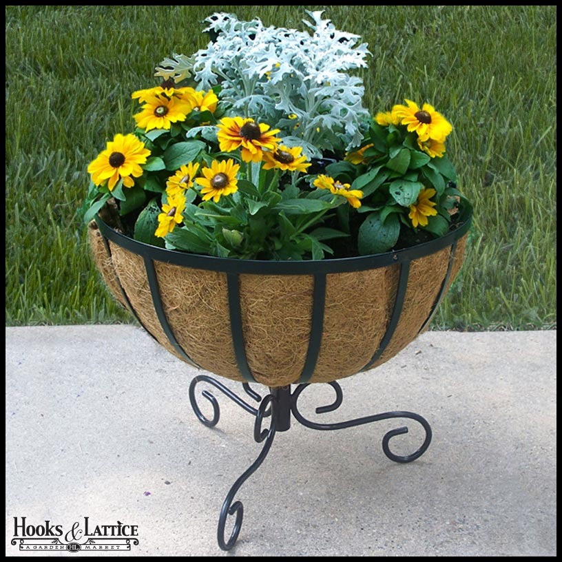 Chelsea Basket w/ Outdoor Planter Stand