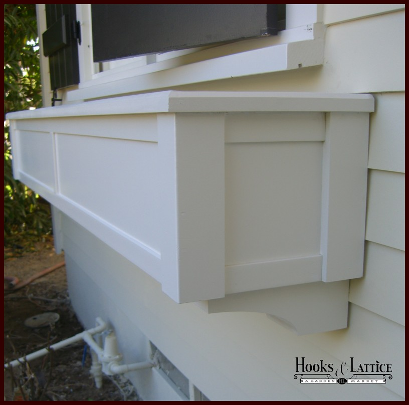 XL Hampton PVC Composite Window Box Close Up