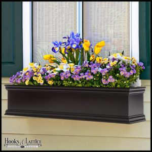 Laguna Black Fiberglass Window Boxes
