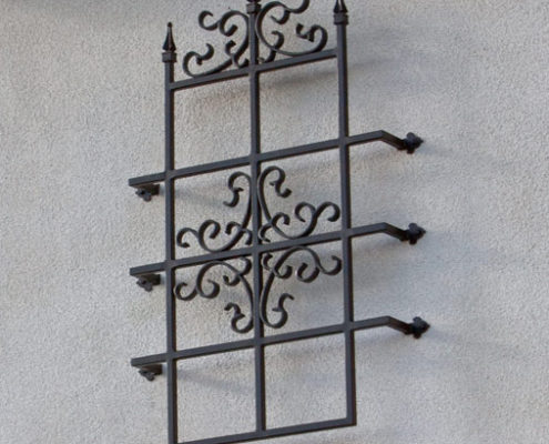 Donatello Iron Window Grill Exterior Accent