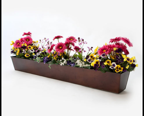 Bronze Tapered Window Box Liner