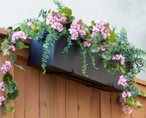 Deck Drape with 9-inch Shelf and Fence Window Box Planter