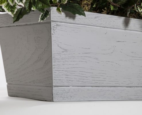 Faux Wood Window Boxes - Reclaimed Driftwood